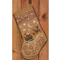christmas eve stocking 895 - Cross Stitch Christmas Stocking Kits