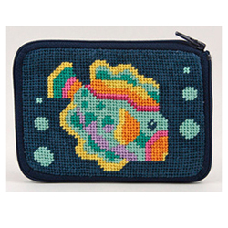 Whale Needlepoint Coin Purse Kit with Persian Wool